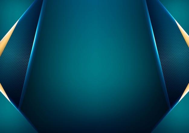 Convite de luxo azul
