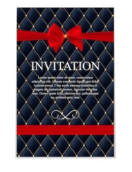 Convite de luxo para o clube de associação