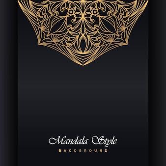 Convite de mandala de casamento de luxo