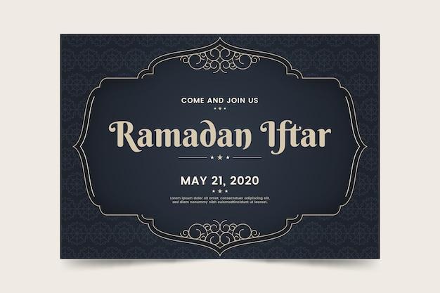 Convite de modelo para evento iftar