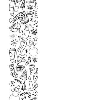 Convite de natal, modelo de cartão com uma borda
