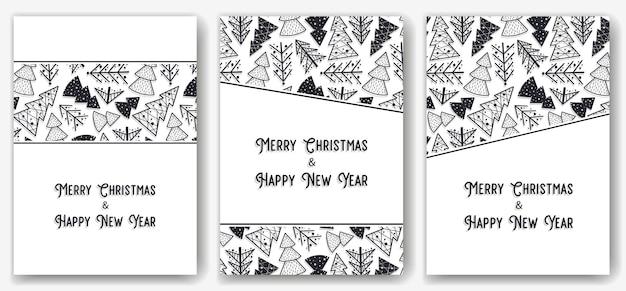 Convite de natal ou cartão postal com floresta para feriado de ano novo projeto de inverno da árvore de abeto