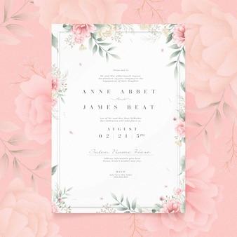 Convite de noivado com conceito floral