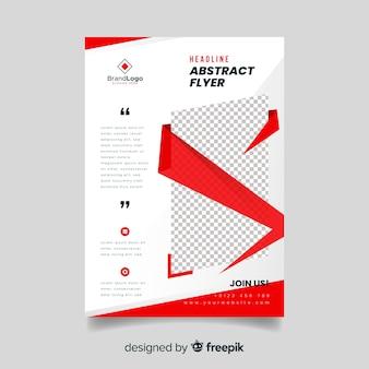 Convite de panfleto comercial abstrato para empresa