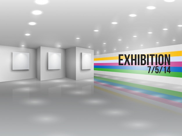 Convite de publicidade de anúncio de exposição