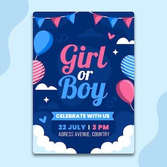 Convite de revelação de gênero simples