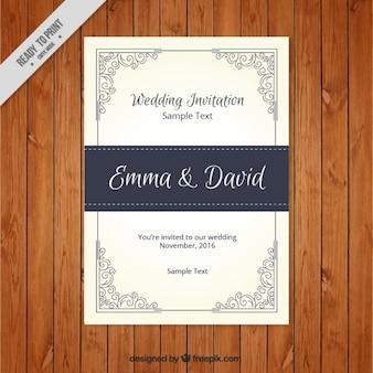 Convite decorativo do casamento