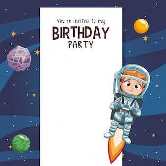 Convite do cartão da festa de anos dos miúdos