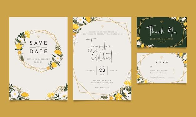 Convite do casamento do vintage