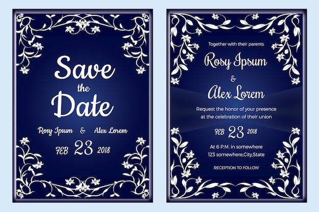 Convite do casamento, salvar a data