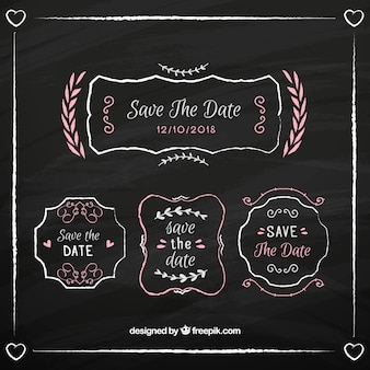 Convite do casamento tipográfico vintage