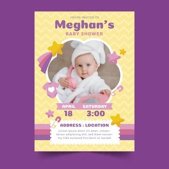 Convite do chuveiro de bebê com criança