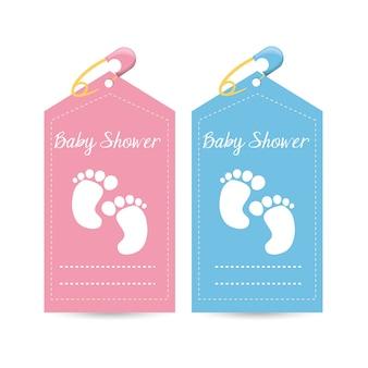 Convite do chuveiro de bebê para presente de boas-vindas a criança