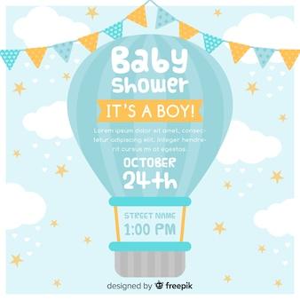 Convite do chuveiro de bebê