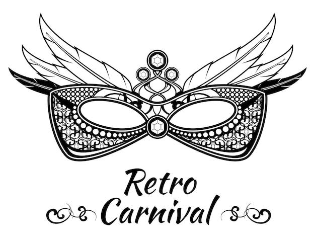 Convite do flayer do cartaz do fundo do vetor do carnaval com máscaras do disfarce. banner do festival veneziano