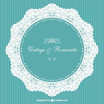 Convite do vintage romântico vector