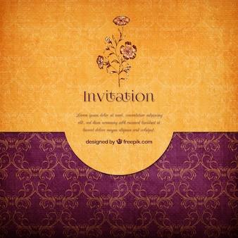 Convite elegante floral