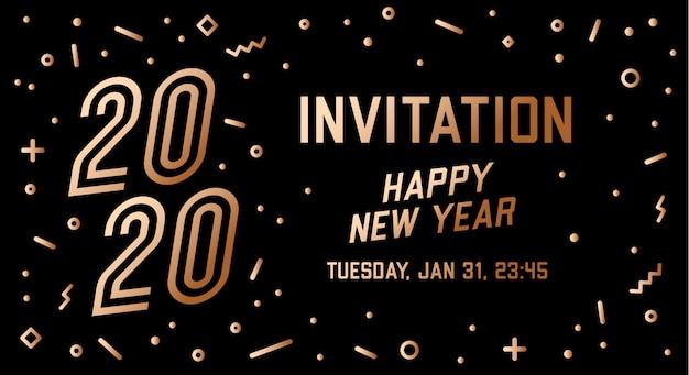 Convite feliz ano novo 2020