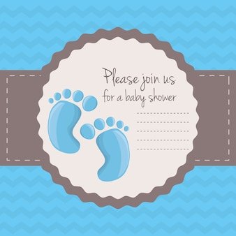 Convite feliz do cartão do chuveiro de bebê