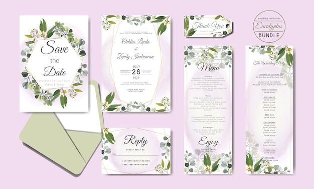 Convite floral bonito e elegante do casamento