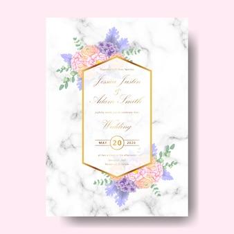 Convite floral de casamento