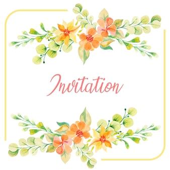 Convite floral de verão