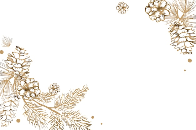 Convite floral em branco