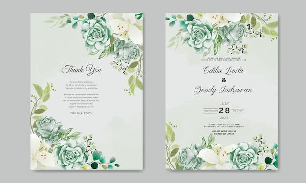 Convite floral lindo casamento