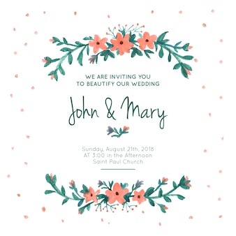 Convite floral para casamento