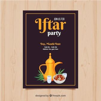 Convite iftar plano
