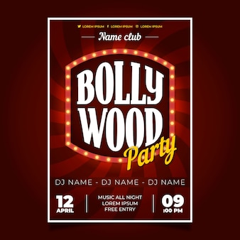 Convite indiano do insecto do partido de bollywood
