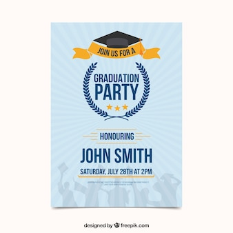 Convite moderno da festa de formatura