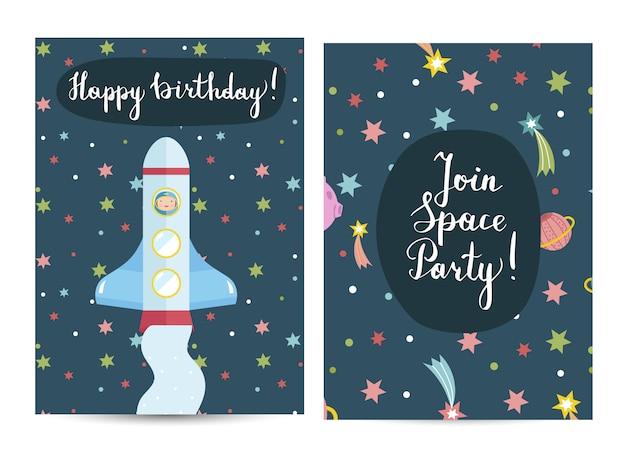 Convite na festa de aniversário fantasiada de crianças