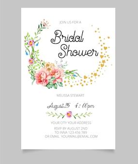 Convite nupcial do chuveiro