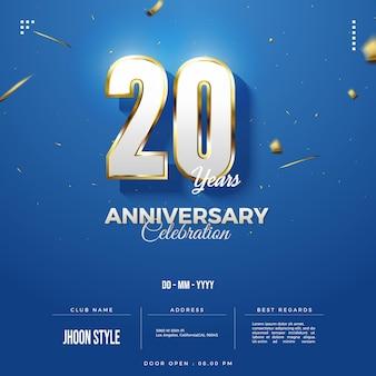 Convite para 20 anos com banho de ouro