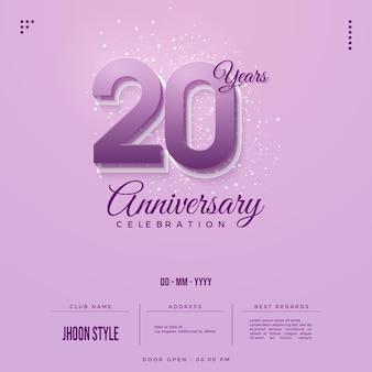 Convite para 20 anos com lindos números