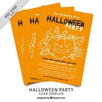 Convite para a festa de halloween