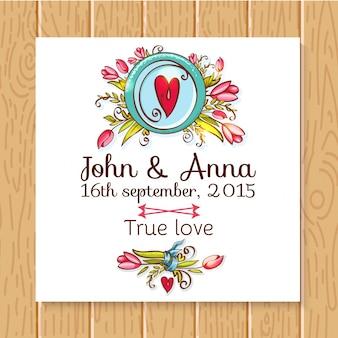 Convite para casamento salvar os cartões de data