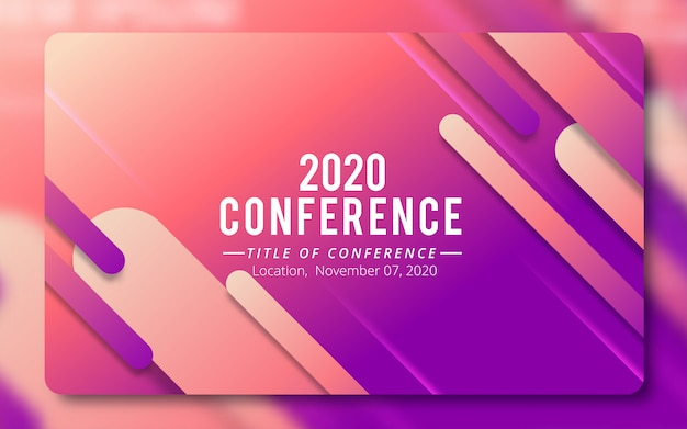 Convite para conferência de negócios
