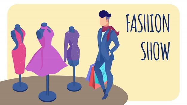 Convite para desfile de moda