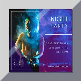 Convite para festa com foto