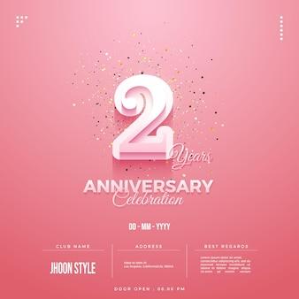 Convite para festa de 2º aniversário com inclusão de porta aberta