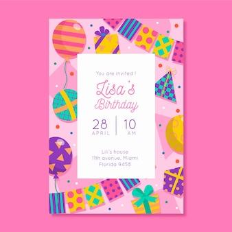 Convite para festa de aniversário para crianças