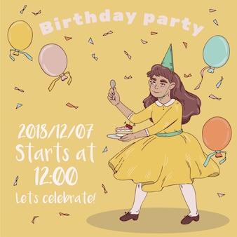 Convite para festa de aniversário