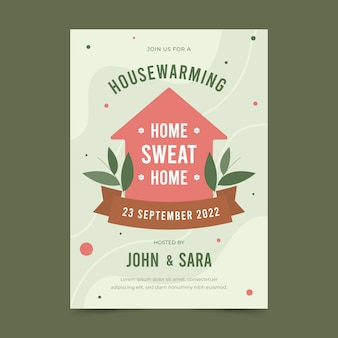 Convite para festa de aquecimento da casa