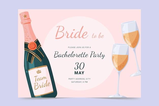Convite para festa de despedida de solteira design plano