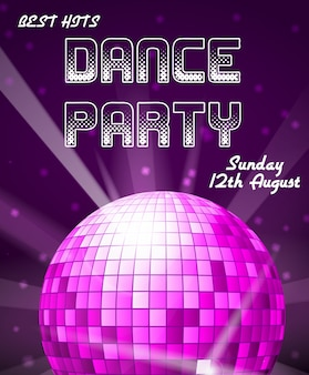 Convite para festa de discoteca