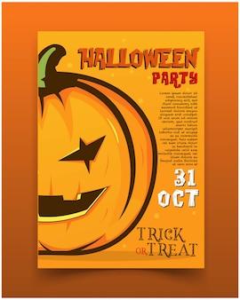 Convite para festa de halloween de panfleto