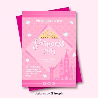 Convite para festa de princesa