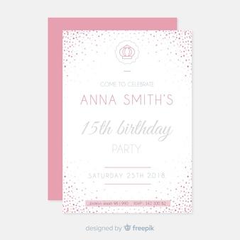 Convite para festa de quinceañera